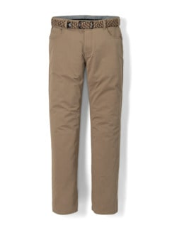 Extraglatt-Dehnbund Five-Pocket Beige Detail 1