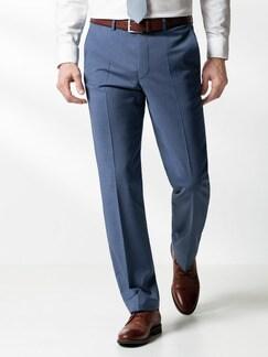 Naturstretch-Anzug-Hose Blaugrau Detail 2