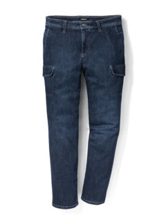Cargo Jeans Dark Blue Detail 1