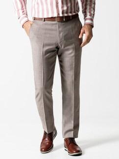 Anzug-Hose Sommerwolle Sand Detail 2