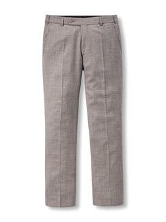 Anzug-Hose Sommerwolle Sand Detail 1