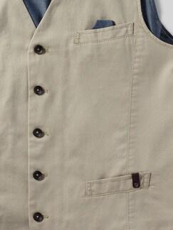 Pima-Cotton Weste Beige Detail 4