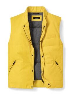 Outdoor-Weste Gentleman Gelb Detail 1