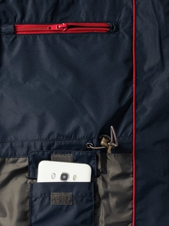 Aquastop Funktionsjacke Marine Detail 4