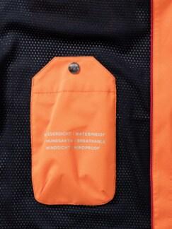 Aquastop Wind-und Wetterjacke Orange Detail 3
