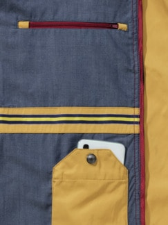 Zip-In-Jacke Gelb Detail 4