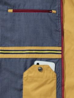 Zip-In-Jacke Gelb Detail 4