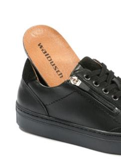 Reißverschluss-Sneaker Schwarz Detail 3