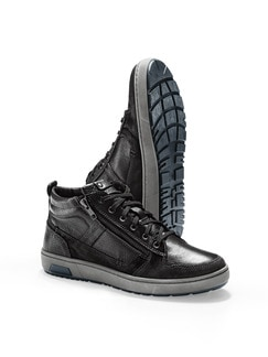 Kalbsleder-Sneaker High Top Schwarz Detail 1