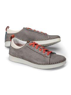 Nubuk-Sneaker Handnaht Grau Detail 1