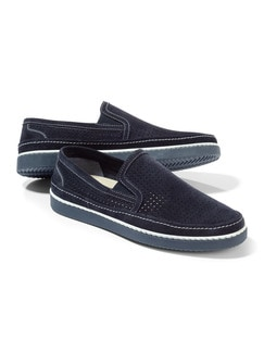 Klimaporen-Slipper Navy Detail 1