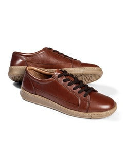 City-Sneaker Everyday Cognac Detail 1