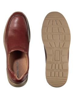 Komfort-Slipper Cognac Detail 2