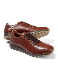 City-Bequem-Sneaker Cognac Detail 1