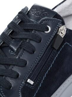 Reißverschluss-Sneaker Blau Detail 4