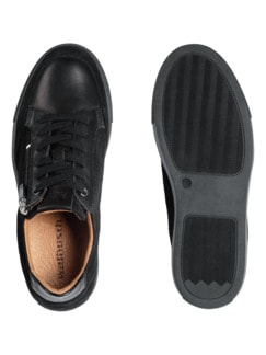 Reißverschluss-Sneaker Schwarz Detail 2