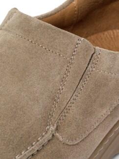 Wildleder Komfort-Slipper Taupe Detail 4