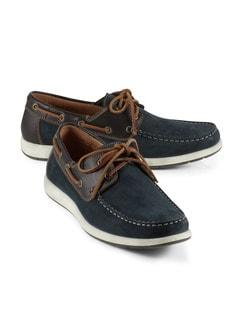 Boots-Schuh Blau Detail 1