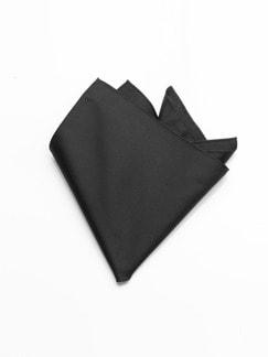 Einstecktuch Seide Schwarz Detail 1