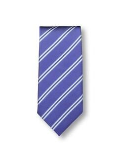 Seidenkrawatte Streifen Blau Detail 1