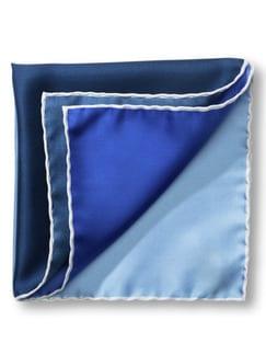 Seideneinstecktuch 4-Farben Blau Detail 1