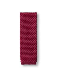 Woll-Strick-Krawatte Rot Detail 1