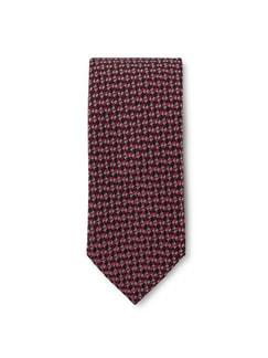Minimal-Krawatte 4-Farben Rot Detail 1