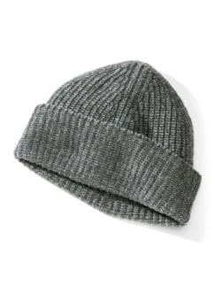 Woll-Strickmütze Grau Detail 1