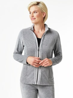 Nicki Homewear Jacke Grau Detail 1
