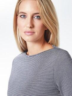 Doubleface-Sweatshirt Marine/Weiß Detail 3