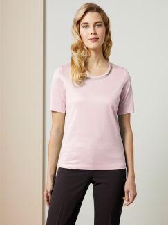 Collier-Shirt Zartrose Detail 1