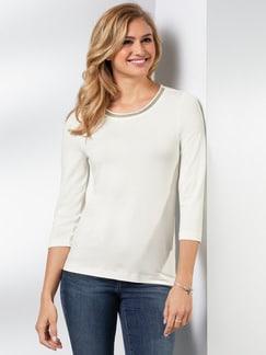 Viskose Collier Shirt Offwhite Detail 1