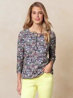 Shirt Millefleurs Marine/Rosé Detail 1