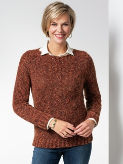 Pullover Herbstzauber Rostorange Detail 1
