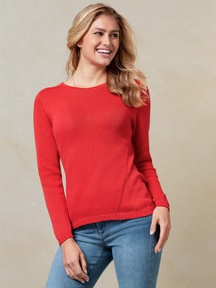 Baumwoll-Pullover Nahtlos Orange Detail 1