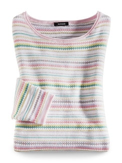 Sommer Cotton Pullover Miami Pastell Multicolor Detail 2