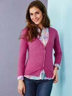 Cardigan Soft-Cotton Pink Detail 1