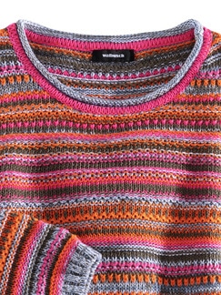 Sommerpullover Aufs Land Orange/Pink Detail 4