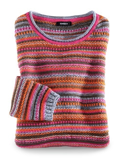 Sommerpullover Aufs Land Orange/Pink Detail 3