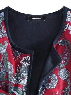 Wendestrickjacke Paisley Rot gemustert Detail 4