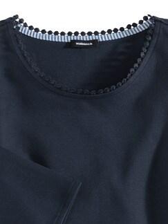 Sweatshirt Lochstickerei Marine Detail 3