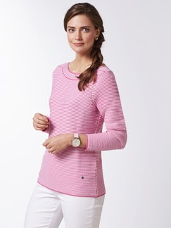 Pima Cotton Pullover Links/Links Pink/Weiß Detail 1