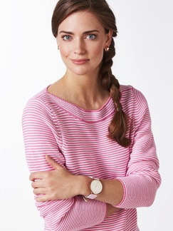 Pima Cotton Pullover Links/Links Pink/Weiß Detail 4