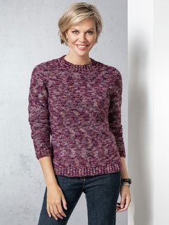 Soft-Boucle-Pullover Beere Detail 1
