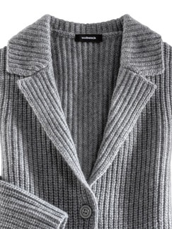 Cashmino-Jacke Perlfang Grau Detail 4