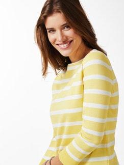 Streifen Sweatshirt 2in1 Gelb/Weiß Detail 4