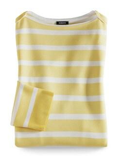 Streifen Sweatshirt 2in1 Gelb/Weiß Detail 2