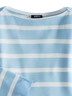 Streifen Sweatshirt 2 in 1 Skyblue/Weiß Detail 3
