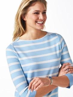 Streifen Sweatshirt 2 in 1 Skyblue/Weiß Detail 4