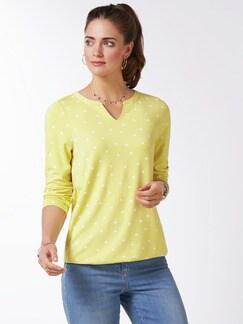 Viskose-Shirt Polka Dot Gelb Detail 1